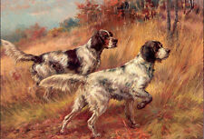 Oil painting Osthaus, Edmund Henry - On Point dogs in landscape free shipping