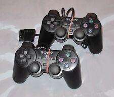 2 Original Sony PlayStation 2 DualShock 2 Controller Schwarz