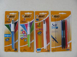 Bic Pens 4 Colours Soft Feel 4 In 1 White Floral Mini Standard Ballpoint Pen