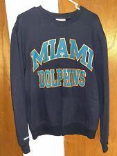 Mitchell & Ness Miami Dolphins NFL Throwback Crew Neck Sweatshirt Medium