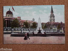 R&L Postcard: National Gallery, London, Water Fountain, Well Animated