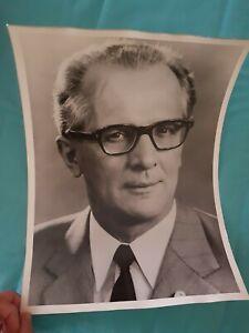 Erich Honecker DDR Bild ohne Rahmen Schwarz Weiß 40 x 30 ohne Rahmen Amtsbild