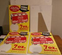 Falls City Beer Louisville KY vintage NOS store display cardboard 8 pack 7 oz