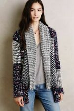 Anthropologie LA FEE VERTE Shawled Confetti Cardigan Shawl Fuzzy Size Large