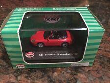 1/87 Scale 1997 Porsche 911 Carrera Cabrio Convertible Red Diecast
