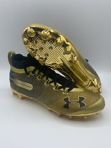 Under Armour Spotlight MC Football Cleat 3020675-900 Metallic Gold NWOB Size 9.5
