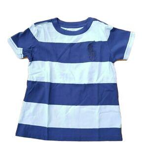 Ralph Lauren Boy Classic stripe Tee in sizes 2 3 4 5 6 years NWT T shirt logo