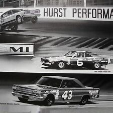 4 PRINTS - RICHARD PETTY PLYMOUTH BELVEDERE GTX SATELLITE 1966 1967 440 426 HEMI