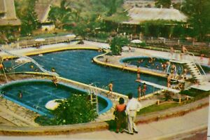 Vintage Postcard Balara Swimming Pool Quezon City Philippine Islands Caltex