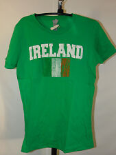 FLY YOUR IRISH PRIDE W/ THIS AWESOME IRELAND FLAG SHORT SLEEVE GREEN SHIRT LARGE