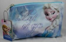 New Disney Frozen Queen Elsa Let It Go Snowflake Cosmetic Make-Up Tote Bag Purse