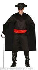 Mens Bandit Zorro TV Film Hero Villain Thief Fancy Dress Costume Outfit Large