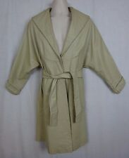 Vintage Wilsons Ivory Leather Duster ~ House Of Suede Beverly Hills, Ca~ w/ Belt