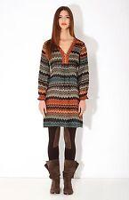Hale bob long sleeve silk dress