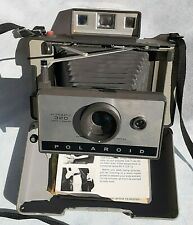 Polaroid 320 camera + Flash retail box org. paperwork for flash retro 60's