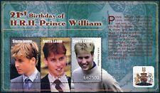 Sierra Leone SG#MS4139 Prince William 21st Birthday MNH M/S #D74308
