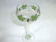 Jugendstil Glas Theresienthal um 1900 Weinlaub
