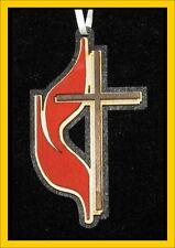United Methodist Cross Ornament, Wood Laser Cut, USA