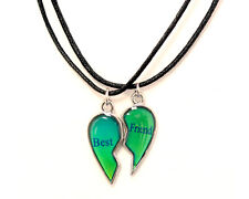 NEW BEST FRIENDS MOOD Broken Heart  Pendants 2 Necklace BFF Friendship