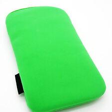Funda para iPhone 4S 4G 3Gs Telefono Movil 3G de Terciopelo Verde Nuevo 2153