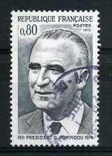 FRANCE 1975 timbre 1839, G. Pompidou, oblitéré