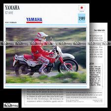 #013.11 YAMAHA XT 600 E 1989 (XTE) Fiche Moto Trail Bike Motorcycle Card