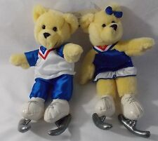 Winter Olympics Kiss Bears With Olympic Outfits and Skates Plush Stuffed Animals