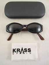 KRASS Collection GQ SONNENBRILLE SCHWARZ BLAU BRAUN DESIGNER SUNGLASSES +ETUI !