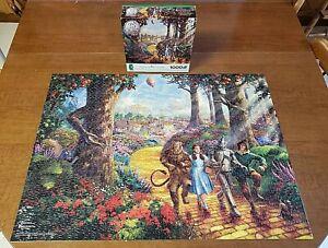 COMPLETE -Thomas Kinkade Wizard of Oz Follow Yellow Brick Road 1000 Piece Puzzle
