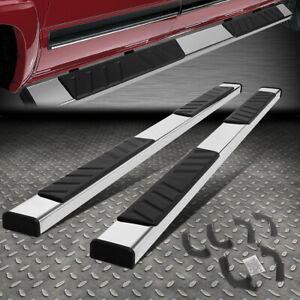 """FOR 2005-2021 TOYOTA TACOMA CHROME 5""""WIDE DOUBLE CAB FLAT STEP BAR RUNNING BOARD"""