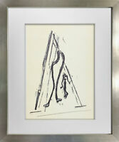 "Max ERNST Lithograph Limited Ed. on Arches SIGN ""La Harpe"" w/Frame Included"