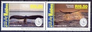 Humpback Whale, Marine life, Fish, Maldives 1993 MNH