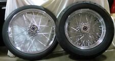 "21"" Speedmaster & 16"" Avon 200 Tires + Spoked Wheels Kit - Mounted & Balanced!"