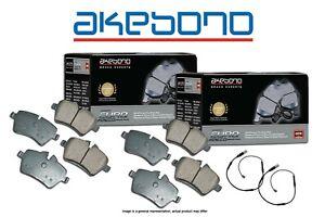 [FRONT+REAR] Akebono Euro Ceramic Brake Pads + Sensors M2 M3 M4 USA MADE AK10825