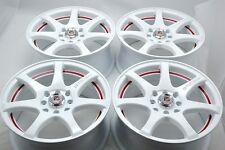 15 Drift white wheels rims Del Sol Integra Accent Yaris Aveo Civic 4x100 4x114.3