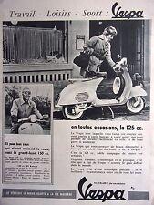 Publicité de presse -    SCOOTER   VESPA     en 1956 ref. 35036