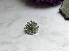 Perlenverkürzer - 585er Weissgold - Smaragde - 14 kt