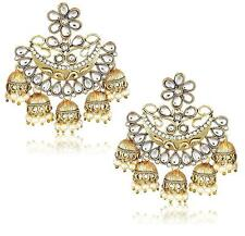 Bollywood Indian Traditional Ethnic BAHUBALI Jhumka Jumki Dangle Gold P Earring