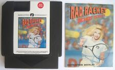 Rad Racket Deluxe Tennis II with Manual Nintendo NES Rare AVE Game *Rare Find*