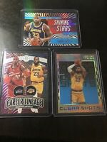 Lebron James 2020 NBA Illusions 3 Card Insert Lot- Sapphire, Lineage SP Lakers