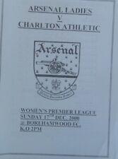 ARSENAL WOMEN v CHARLTON. 17/12/2000 Premier League 4pp