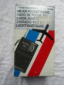 REALISTIC JETSTREAM AM POCKET RADIO 12 9460 boxed