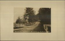 South Chatham NH Road to Post Office From Bemis Camp Real Photo Postcard