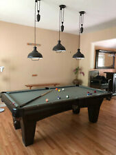 Modern Pool Table Light Billiard 3 independent Lights Pendant Metal Shades brown