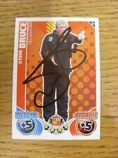 "2010/2011 AUTOGRAFO: Sunderland-Bruce, Steve [firmato a mano ""TOPPS MATCH ATTAX"""
