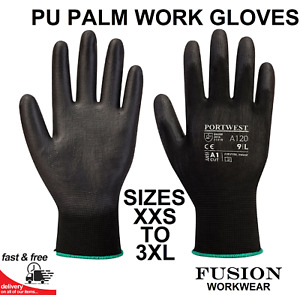 PU PALM GLOVES.GRIP GLOVES,WORK,BUILDERS,MECHANICS,ENGINEERING,JOINERS,DIY.>3XL
