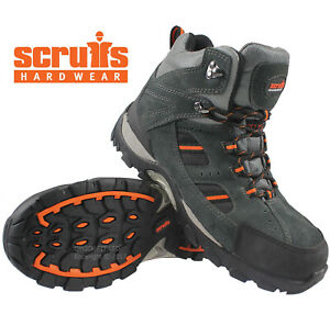 MENS WORK BOOTS SAFETY STEEL TOE CAP LEATHER HIKING ANKLE TRAINERS SHOES HIKER