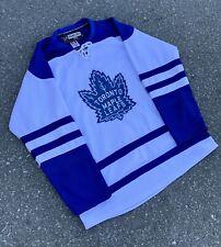 Vintage Toronto Maple Leafs NHL Hockey Jersey By Reebok Rare 54 Stitched White
