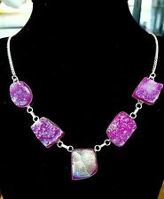 Silver Plated Stone Statement Fashion Necklaces & Pendants