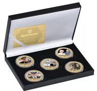 Prince Philip Duke Of Edinburgh And The Queen Elizabeth ll Gold Plated Coins